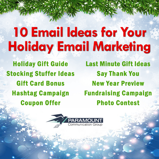 Holiday email ideas